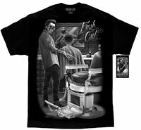 DGA David Gonzales Art Fresh Cut Appointment Barber Haircut Greaser Mens Shirt