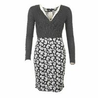 FRENCH CONNECTION Robe Noir Cachemire Pointillé Taille US 10 /UK 14 Rl 165