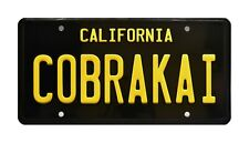 Cobra Kai | Johnny's Dodge Challenger | Metal Stamped Replica Prop License Plate