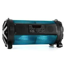 Tragbarer Bluetooth Lautsprecher Boombox Ghettoblaster LED USB Anlage Akku 30W