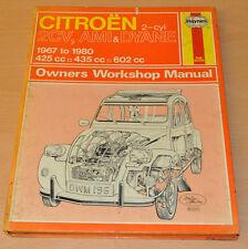 Citroen 2CV AMI DYANE 1967- 1980 Reparaturanleitung Haynes Repair Manual