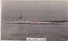 "Royal Navy Real Photo RPPC. HMS ""Clyde"" River class submarine. WW11. 1935"