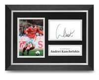 Andrei Kanchelskis Signed A4 Framed Photo Display Man Utd Autograph Memorabilia