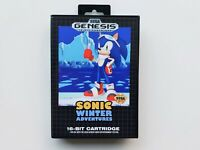 Sonic the Hedgehog Winter Adventures Game / Case Sega Genesis Fan Made Mod (USA)