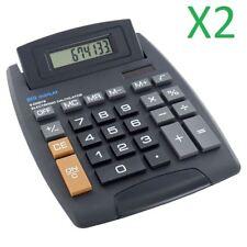 2X Jumbo Desktop Calculator Big Buttons Keys Solar Battery Memory Home Office