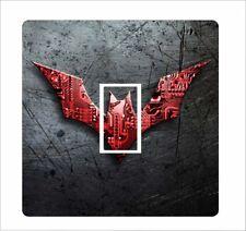 Logotipo de Batman-Placa de Circuito-Interruptor De Luz Pegatina Cubierta De Vinilo Etiqueta de piel