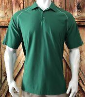 Nike Golf Men's 2XL Polo Shirt Green Short Sleeve Dri-Fit Polyester Spandex XXL