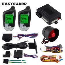 EASYGUARD 2 way car security alarm remote engine start LCD display dc12v