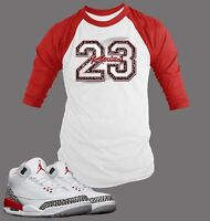 23 Tee Shirt to Match Air Jordan 3 Katrina Give Back Shoe Men Graphic BB Tee