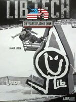 LIB TECH snowboard 2014 JAMIE LYNN 2 sided promotional poster New Old Stock