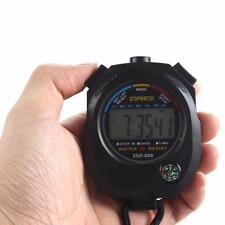 Водонепроницаемые спортивные цифровые ЖК секундомер хронограф Таймер счетчик сигнализация