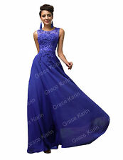 Plus Long Lace Bridesmaid Formal Evening Gown Party Cocktail Wedding Prom Dress