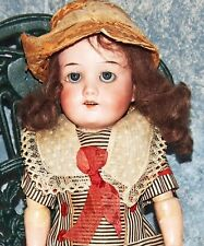 "Antique 14"" Armand Marseille German Character Doll Model #390 porcelain &clothes"
