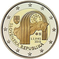 IN STOCK - SLOVAKIA 2 Euro 2018 commemorative coin - Establishment of Slovakia
