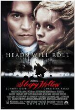 "SLEEPY HOLLOW - 1999 - Original 27x40 MOVIE POSTER - ""Faces"" Style - JOHNNY DEPP"
