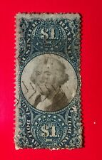Us Stamp Scott# R 118 Dollar Cut Cancel
