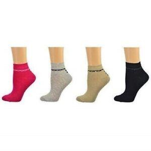 Women's Bamboo Low Cut 4 Pair Pack Multi Color Socks W211