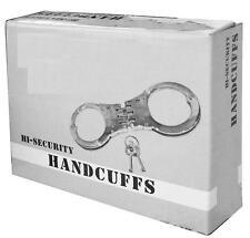 NEU Handschellen mit Gelenk Polizei US Police Handcuffs Army Qualität Edelstahl