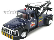 WELLY 19834 1956 56 FORD F-100 BOB'S TOWING TOW TRUCK 1/18 DIECAST BLUE