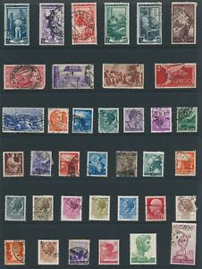 Lot Stamp Italy Caesar Olympics King Emanuel Airmail Selection Collection Used