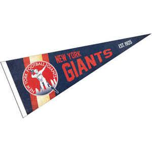 NY Giants Throwback Vintage Retro Pennant Flag