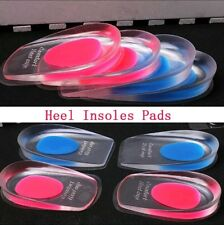 Heel Pain Spur Silicone Gel Shoes Pads Cushion Heel Cup Insoles Massager Inserts