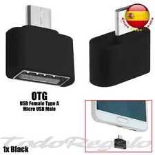 OcioDual 91456 Mini Adaptador Micro USB a USB 2.0 OTG para Samsung Tablets y Teléfonos - Negro