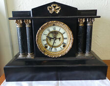 ANSONIA MANTEL CLOCK OPEN ESCAPEMENT C 1900