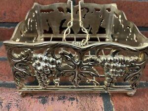 Godinger Silver Plated Grape Leaf Design Napkin Holder