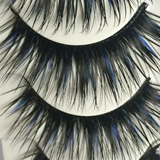 Extra Long Fake Eye Lashes Natural Cross False Eyelashes Extention Handmade 5 Pa