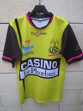 Maillot rugby USC CARCASSONNE porté n°20 shirt match worn jaune moulant XL
