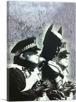 ARTCANVAS Batman and The Police Canvas Art Print by Banksy
