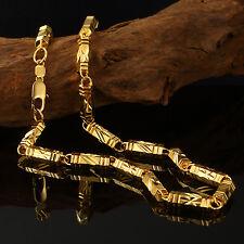 Luxus Goldkette Ketten Herren 6mm Halskette Echt 999er Gold 24K vergoldet 60cm