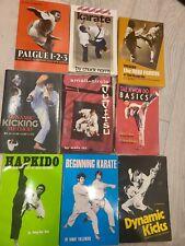 OHARA Mixed Martial Arts Book Lot of 9 Jujitsu Tae Kwon Do Karate Kicks hapkido