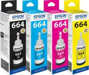 4 x Epson Original Eco Tanks BCM&Y For ET-2500,2550,2600,2650,4500,14000,16500