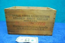 Vintage Winchester Staynless Ranger Hs 500 Wood Ammo Box Small Arms Shot Shells!