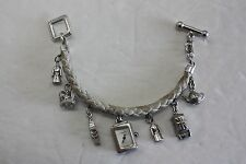 BURBERRY STERLING SILVER CHARM WATCH BU5207
