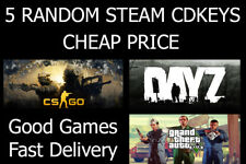 5 Random Steam Keys - PC Game - Chance of getting GTA V, DayZ, CS:GO, etc!