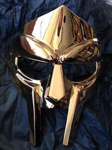 Medieval MF Doom Gladiator Mask Mad-villain Golden Finish Brass Face Armour