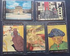 Folder Schede telefoniche Philadelphia Museo of Art. 5x GTS Chiamata Card mint