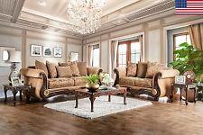 2pc Sofa Set Living Room Furniture Formal Traditional Sofa Loveseat Pillows USA