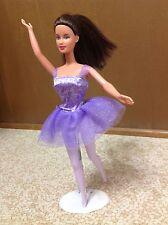 Teresa Ballerina Barbie Doll Purple Dress Legs Tights Brunette Hair