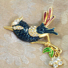 Unbranded Crystal Yellow Gold Plated Fashion Brooches
