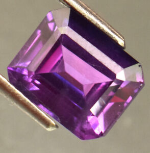 Natural Certified Purple Sapphire Emerald Cut 5.75 Ct Loose Gemstone For Ring