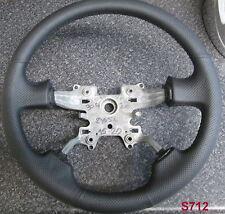 Negro re-trimmed Cuero Volante Para Gama Sport 05 + Interior intercambio