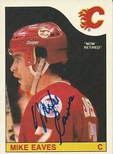 Signed Mike Eaves Calgary Flames 85-86 O-PEE-CHEE  Hockey Card #213