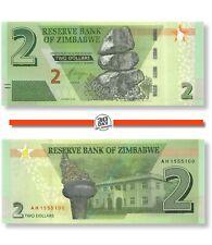 Zimbabwe 2 Dollars 2019 Unc Pn 101a