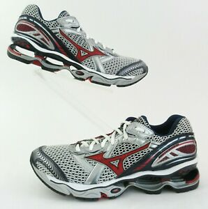Mizuno Wave Creation 12 Running Shoes Silver/Red/Blue Mens US 7.5M / Womens 9D