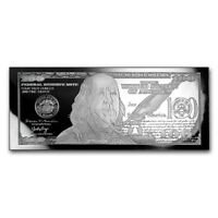 BRAND NEW - 4 oz Silver Bar - 2018 $100 Bill (w/Box & COA)
