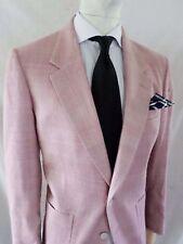 PINK SILK nubby preppy country club shell button blazer sport coat jacket 38